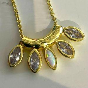 Gorjana Opalite Gold Crystal Necklace RARE